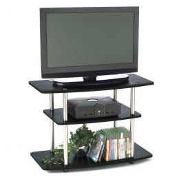 32-Inch Flat Screen TV Stand in Wood Grain Finish