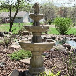 "Sunnydaze 3-Tier 48"" Water Fountain"