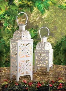 Lovely White Lantern Set
