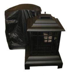 Outdoor Patio Fireplace Vinyl Cover