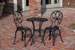 Antique Bronze Cast Aluminum 3pc. Bistro Set