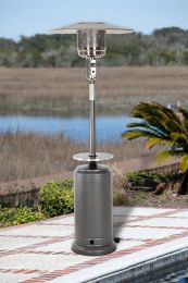 Hammer Tone Silver Standard Series Patio Heater with Adjustable Table