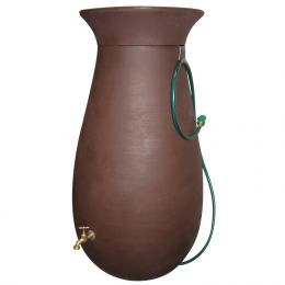 Molded Plastic 65-Gallon Rain Barrel in Dark Brown