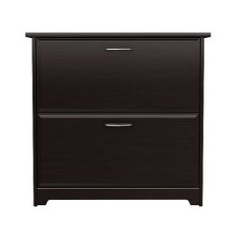 2-Drawer Lateral File Cabinet in Espresso Oak Wood Finish