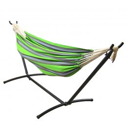 Sunnydaze Premium 100 % Natural Tightly Woven Cotton Double Brazilian Hammock and Stand Combo