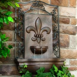 Sunnydaze French Lily Outdoor Wall Fountain