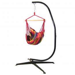 Hanging Hammock Swing and C-Stand Combo by Sunnydaze Décor