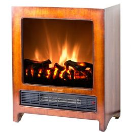 Modern Freestanding Electric Fireplace Space Heater
