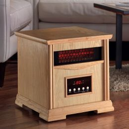 Light Oak Quartz Element 1,500 Watt Infrared Cabinet Space Heater