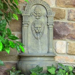 Sunnydaze Leo Outdoor Wall Fountain