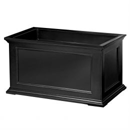 20 x 36 inch Patio Porch Planter Box in Black Polyethylene
