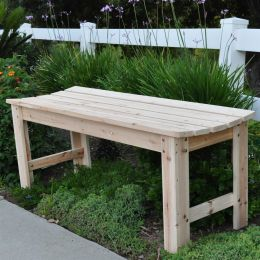 48-inch Outdoor Picnic Garden Bench in Natural Wood Finish