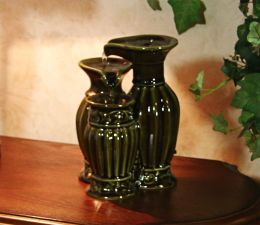 Pouring Vase Ceramic Tabletop Fountain