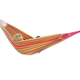 Red/Yellow Cotton Double Brazilian Hammocks from Sunnydaze Decor