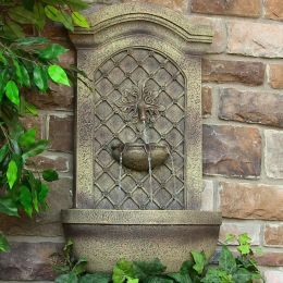 Sunnydaze Rosette Leaf Outdoor Wall Fountain