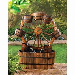 Rustic Wood Fountain