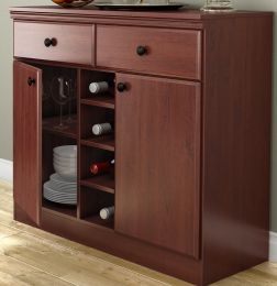 Dining Room Buffet Sideboard Console Table in Cherry Wood Finish