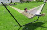 Sunnydaze Thick Cord XXL Hammock with Stand