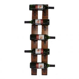 Wall Mounted 5-Bottle Wine Rack - Made in USA