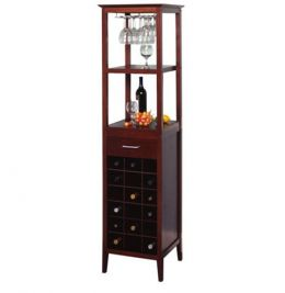 Espresso 18 Bottle Wine Tower