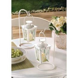 White Garden Candle Lanterns